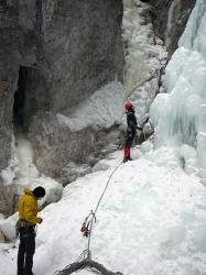 Heiko am Einstieg des langen Wasserfalls