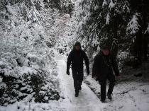 es hat geschneit in Sachsen